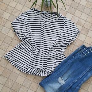 Zara trafaluc fall winter collection striped tee